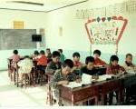 教室の様子(高学年・低学年が1つの教室)