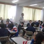 開成高校で一緒に英語の授業